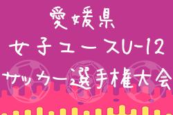 2019年度 EFA 第24回愛媛県女子ユース U-12 サッカー選手権大会 優勝はひうちドリームスwith新居浜