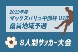 情報をお待ちしています!2019年度 マックスバリュ中部杯 U10 桑員地域予選 三重