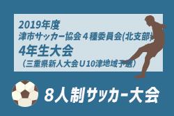 組合せ情報募集中!9/8,15開催!2019年度 津市サッカー協会4種委員会(北支部)4年生大会(三重県新人大会U10津地域予選)