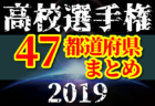 【2019年度高校サッカー選手権一覧】42県で代表決定(11/17現在)【47都道府県別】