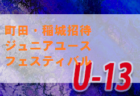 組合せ掲載 2019年度第4回町田・稲城招待ジュニアユースフェスティバルU-13大会 東京