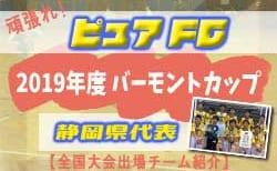 頑張れピュアFC!2019年度 バーモントカップ静岡県代表【全国大会出場チーム紹介】
