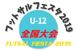 2019年度 フットサルフェスタ2019全国大会 U-12 8/12 大阪開催