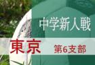 代表校決定! 2019年度 第63回東京都中学校サッカー新人戦 第5支部予選 代表決定戦 結果速報11/9!