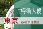 2019年度 第63回東京都中学校サッカー新人戦 第7支部 八王子地区予選 組合せ決定!
