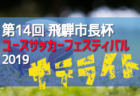 17都府県24チーム参戦!8/10~13組合せ掲載!第14回 飛騨市長杯ユースサッカーフェスティバル 2019(サテライト)