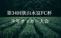 組合せ掲載!2019年度 第34回狭山水富FC杯少年サッカー大会 7/27,28開催 埼玉