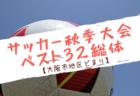 2019年度大阪中学校秋季総合体育大会サッカーの部【中地区】9/21,22結果掲載!情報お待ちしています!