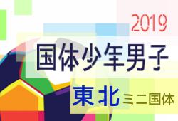 青森・宮城・福島が全国出場決定!2019年度 東北総体サッカー競技(ミニ国体・少年男子)
