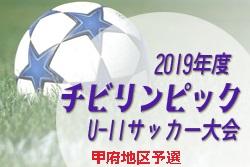 組合せ,大会情報募集中!2019年度 JAチビリンピック8人制サッカー大会甲府地区