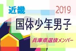 【兵庫県】参加メンバー掲載! 2019年度 第74回国民体育大会 近畿ブロック大会 少年男子(8/9~11)国体