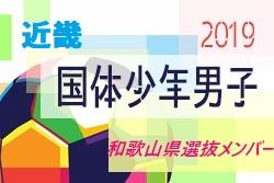 【和歌山県】参加メンバー掲載! 2019年度 第74回国民体育大会 近畿ブロック大会 少年男子(8/9~11)国体