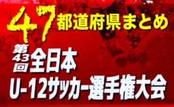 【2019年度全日本U-12サッカー大会一覧】青森、秋田、岩手で代表決定!【47都道府県別】