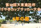 2019年度 第38回大東建託杯けやきカップサッカー大会 3年の部 決勝は11/2に開催予定!神奈川