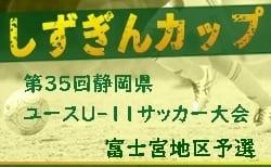 2019年度 第28回富士宮ライオンズカップ (兼)しずぎんカップ 東部・富士宮地区予選 (静岡県) 優勝は大富士FC!
