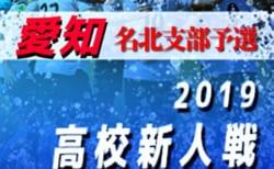 2019年度 愛知県 高校新人体育大会 サッカー競技 新人戦  名北支部予選大会 1/18決定戦 結果速報!情報お待ちしています!