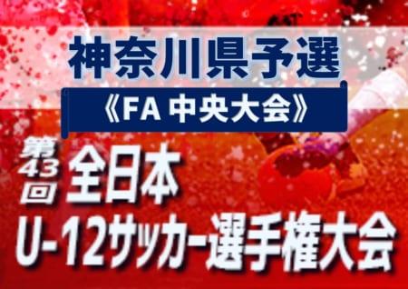 2019年度 JFA第43回全日本U-12サッカー選手権大会 神奈川県予選《FA 中央大会》3・4回戦結果速報!11/17 情報をお待ちしています!