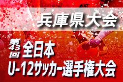 2019年度 JFA第43回全日本U-12サッカー選手権大会 兵庫県大会 1回戦11/17結果掲載!次回11/24