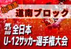2019JFA第43回全日本U-12サッカー選手権大会 北海道 道東ブロック大会 全道大会出場チーム決定!