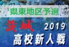 2019年度茨城県高校サッカー新人大会 水戸地区予選会 県大会出場チーム決定!