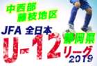9/15・9/16まで結果掲載!高円宮杯 JFA U-18サッカーリーグ2019 山梨