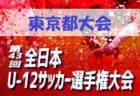 2019年度JFA第43回全日本U-12サッカー選手権大会 東京都大会ベスト4決定!次回11/24開催!