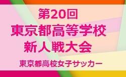 2019年度 第20回東京都高校女子サッカー 新人戦大会 1/18結果更新!準々決勝残り2試合1/25