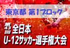 2019年JFA第43回全日本U-12サッカー選手権大会 東京大会 第5ブロック 結果情報等募集!