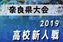2019年度 奈良県高校サッカー新人大会 ブロック優勝校決定!