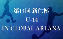 組み合わせ掲載!2019年 第14回 新仁杯 U-14 inグローバルアリーナ 9/21,22,23開催!