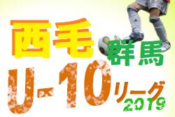 9/16結果速報!2019年度 西毛4種リーグ U-10 2ndステージ