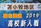 2019函館地区高校秋季新人サッカー大会 函館大附属有斗高校が4連覇!