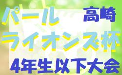 台風で延期 2019年度 第14回高崎パールライオンズ杯少年サッカー大会(4年生以下)群馬 11/2.3.4日程調整中