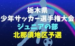 2019年度 第48回栃木県少年サッカー選手権大会 ジュニアの部 北那須地区予選 優勝はAS栃木!県大会出場8チーム決定!