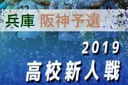 2019年 兵庫県高校サッカー新人大会・阪神支部予選 12/1全結果 ベスト8決定 12/15準々決勝・9位決定戦
