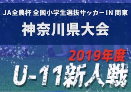 2019年度 JA全農杯 第17回神奈川県U-11少年サッカー大会 兼 関東大会予選 組合せ速報!12/7,8開催!