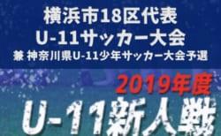 2019年度 第16回横浜市18区代表U-11サッカー大会 11/3,4開催!組合せ掲載!神奈川