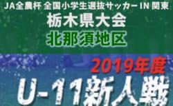 2019年度 第37回栃木県少年サッカー新人大会 北那須予選大会 組合せ掲載!12/15開幕!