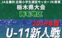 2019年度 第37回栃木県少年サッカー新人大会 両毛地区予選 12/15開幕!組合せや開催情報をお待ちしています!