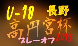 高円宮杯 JFA U-18サッカーリーグ2019長野県リーグ プレーオフ(3部参入戦)長野工業、佐久平総技が3部へ昇格!