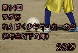2019年度 第14回 ワダ杯わんぱく少年サッカー大会(2年生以下の部)優勝は中村南JSC!