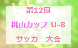 2019年度 第12回桃山カップ U-8サッカー大会 新潟 結果掲載!