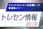2019年度ナショナルトレセン北信越U-12 新潟県参加メンバー掲載 10/12~14