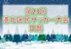 2019年度 第23回港北区民サッカー大会Ⅲ部(U-8) 神奈川 組合せ決定!日程情報募集中