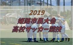 2019年度 姫路市民大会 高校サッカー競技 兵庫 11/3,9結果 ベスト8決定 準決勝は11/16