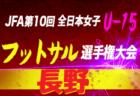 大阪府 JFAトレセンU-13・U-15 メンバー決定 2019