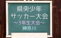 2019年度 第38回県央少年サッカー大会 3年生大会 11/3,9,16に延期?延期情報をお待ちしています!神奈川