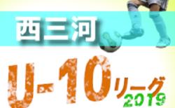 2019年度 西三河地区リーグU-10 後期 (愛知) A/C/Eブロック結果更新!次回日程情報お待ちしています!
