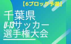 2019年度 千葉県ユース(U-13)サッカー選手権大会  6ブロック予選  12/14.15結果速報!情報お待ちしています!