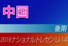 2019年度ナショナルトレセンU-14〈後期〉九州参加者メンバー発表!!